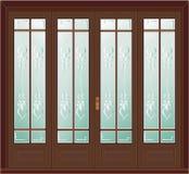 античная иллюстрация двери Стоковое Изображение RF