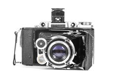 Античная камера с объективом аккордеона Стоковое Изображение RF