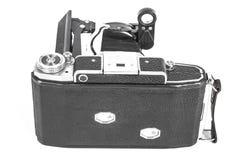 Античная камера с объективом аккордеона Стоковые Изображения
