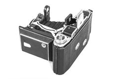 Античная камера с объективом аккордеона Стоковое Фото