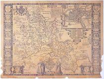 Античная карта Оксфордшира Стоковые Изображения RF