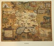 античная карта Россия Стоковые Фотографии RF