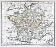 античная карта Франции Стоковые Изображения RF