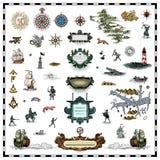 античная карта элементов Стоковые Фотографии RF