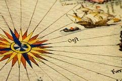 античная карта Стоковая Фотография RF