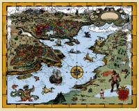 античная карта Стоковое Фото