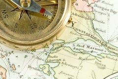 античная карта Стоковое Изображение RF