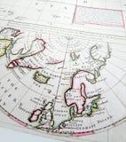 античная карта Стоковые Фотографии RF
