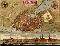 античная карта hamburg бесплатная иллюстрация