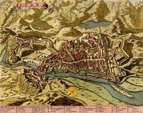 античная карта ivrea Италии иллюстрация вектора