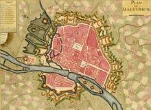 античная карта maestrich иллюстрация вектора