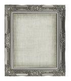 Античная картинная рамка с холстом пустого grunge linen для вашего pi Стоковые Изображения