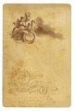 Античная карточка художника Стоковая Фотография RF