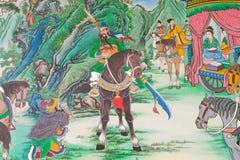 Античная китайская настенная роспись. Стоковые Изображения