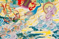 Античная китайская настенная роспись. Стоковая Фотография