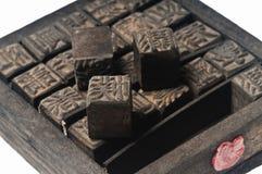 античная китайская печать пем стоковое фото rf