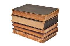 Античная книга на белизне Стоковая Фотография RF