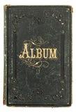 Античная книга с золотым украшением букет альбома украсил сбор винограда фото hollyhocks рамки цветков Стоковые Изображения
