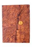 античная кожа крышки книги Стоковые Фотографии RF