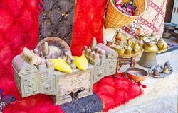 Античная коробка shoeshine в Анталье стоковые изображения