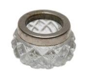 Античная кристаллическая изолированная чернильница Стоковое фото RF