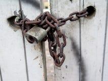 Античная ключевая цепь замка Стоковая Фотография