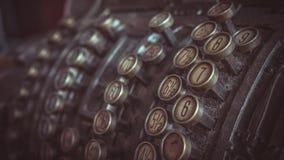 Античная машина кассира кассового аппарата стоковая фотография