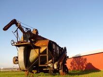 античная машина молотя Стоковое Изображение RF