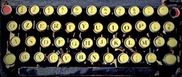 Античная машинка для писателей с винтажным влиянием Стоковые Фото