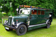 античная пожарная машина Стоковое Изображение RF