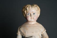 Античная подлинная старая кукла супа Стоковые Фотографии RF