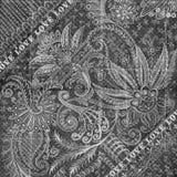 античная предпосылка флористическая Стоковая Фотография