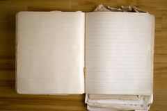 античная пустая книга старая Стоковые Фотографии RF