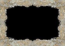 античная рамка граници богато украшенный Стоковое Фото