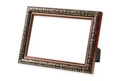 Античная рамка деревянных и золота Стоковое Фото