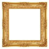 Античная рамка золота на белой предпосылке стоковые изображения rf
