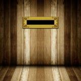 Античная рамка золота в деревянной комнате Стоковое Изображение RF