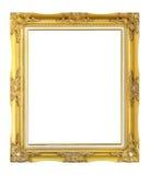 Античная рамка золота на белой предпосылке Стоковое фото RF