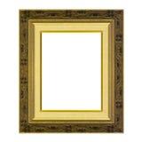 Античная рамка изолированная на белизне Стоковые Фото