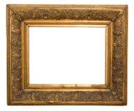 Античная рамка очень стара с отказами и неровным изолированная на белой предпосылке, с путями клиппирования Стоковая Фотография RF