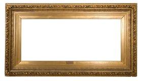 Античная рамка очень стара с отказами и неровным изолированная на белой предпосылке, с путями клиппирования Стоковое Фото