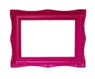 Античная розовая рамка Стоковое Изображение