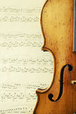античная скрипка части Стоковая Фотография