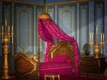 античная спальня Стоковые Изображения