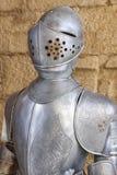 Античная средневековая броневая защита рыцаря со шлемом Военная оборона стоковое фото rf