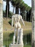 Античная статуя в вилле Adriana, Tivoli Риме стоковая фотография