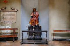 Античная статуя Иисуса Стоковая Фотография RF