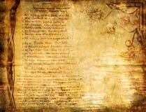 античная страница Стоковое Фото