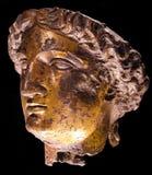 Античная сломанная скульптура головы статуи Стоковое фото RF