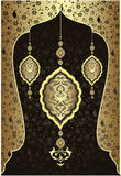 античная тахта золота конструкции Стоковая Фотография